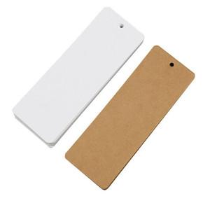 5*14cm Creative Cute Small Fresh Bookmark Antique Blank Chinese Style Kraft Paper Classical DIY Tassel Bookmark Paper