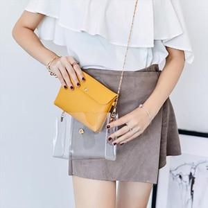 2019 Fashion PVC Jelly Bag Women Small Transparent Shoulder Handbags Mini Mobile Phone Crossbody Messenger Bag for Girls