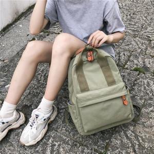 HOCODO 2020 Female Ring Buckle Travel Backpack Waterproof Nylon Women Backpack Schoolbag For Teenage Girls Solid Color Bookbag