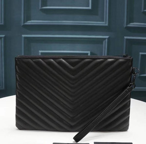 2020 Nueva moda mujer bolso de embrague bolso negro bolso de cuero de alta calidad Hombre de alta calidad bolsa de embrague clásico bolso de asas de crédito Titular de la tarjeta de crédito Envío gratis