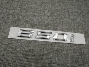 Krom Parlak Gümüş ABS Numarası Mektuplar Kelime Araba Trunk Rozeti Amblem Mektup Çıkartması Sticker BMW 6 Series 650i için