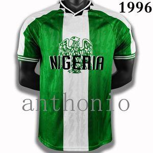 Top 1996 Nigerias Tetro Soccer Jerseys Okocha Kanu Oliseh Dosu Maillot de Pie Soccer Jersey Home 1996/97 Camisa Camisetas Camisetas Tamaño S-XXL
