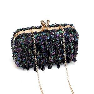Women Diamond 2020 Bags Crystal Shoulder Sparkly Shiny Sequins Clutch Rhinestone Evening Bag Handbag Bag Designer Luxurys Purse For Par Ixqp