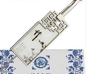 Blue And White Porcelain Bookmark, Chinese Wind Metal, Classical Creative Bookmark, Gift Teacher, Classmate Gift sqcggw bdenet
