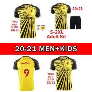 2021 Yetişkin Çocuk Kelme Watford F.C. Ev Sarı Futbol Forması 2020 2021 Watford F.C.Child Şort Futbol Gömlek Üniforma