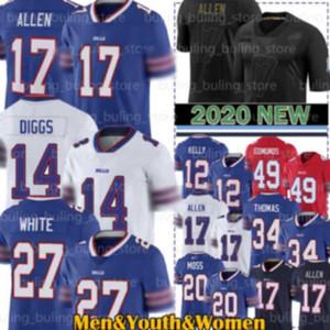 17 Josh Allen Jerseys 14 Stefon Diggs Bill 27 Tre Davious White Buffalo 49 Tremaine Edmunds 12 Jim Kelly Zack Moss Thurman Thomas