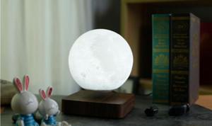 Levitating luna lampada, galleggiante e filatura in aria liberamente con stampa 3D LED Lamp Lamp Light per regali unici Decorazioni per la stanza