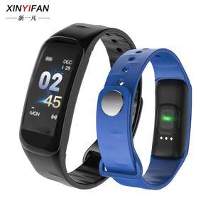 Hot C1 Plus Smart Color Screen Bluetooth-Schritt Herzfrequenzüberwachung Übung Bracelet C1SBGT
