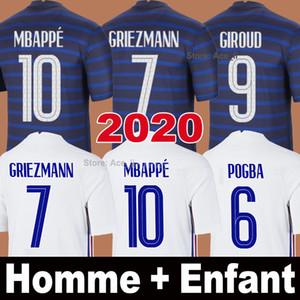 2020 كرة القدم جيرسي Mbappe Grizmann Kante Pogba 100th Mailleot De Foot Euro 2021 كأس 20 21 رجلا + أطفال أطقم مجموعة قمصان كرة القدم موحدة