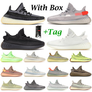 Kanye West мужские кроссовки женские кроссовки Carbon Zyon Cinder Static Black Israfil Earth Tail Light Zebra Clay Cream мужские уличные кроссовки
