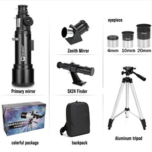 F40070M HD Astronomical Telescope with Tripod Monocular Moon Bird Watching Kids Gift Match Phone Adapter Finder Scope BLT-01