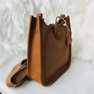 2021 Sıcak Satış Mini Evelyn dana Togo deri yüksek kaliteli tasarımcı H içi boş crossbody omuz çantası kadın torbaları kahverengi handbags