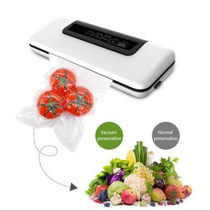 FreeShipping Automatic Vacuum Sealer Packer Vacuum Air Sealing Packing Machine For Food Preservation Dry Wet Soft Food with Free 10pcs Bags