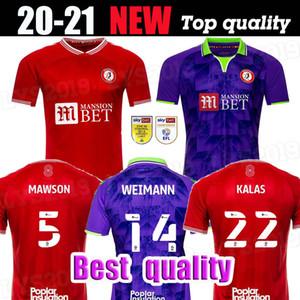 2020 2021 Bristol Weimann City Jerseys de fútbol Mawson Martin Diedhiou Paterson Wells Massengo Kalas Dasilva Casas Custom Home Red Football Shirts