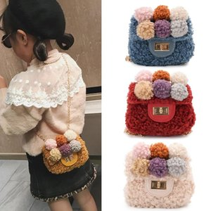 Designer-Korean Kids Mini Purses and Handbags 2020 Cute Woolen Crossbody Bags for Baby Girls Small Coin Pouch Girl Purse Gift