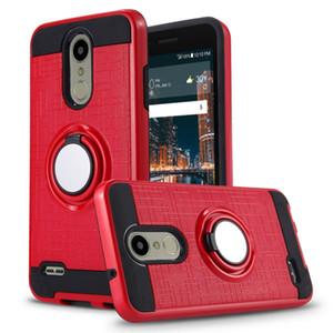 Caso di anello per telefono magnetico del supporto per auto per LG G8 V50 ThinQ K9 K8 2018 V40 Q7 Plus Cover antiurto