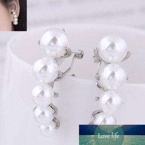 Корейская мода простыельные серьги-гвоздики для женщин модная девушка сладкий золотой серебристый размер жемчужные серьги Brincos