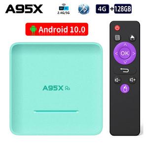 A95X R5 luz RGB androide 10.0 de TV CAJA RK3318 Quad Core 4 GB 128 GB Max 4K DUAL WIFI TV Box de Smart TV A95XR5