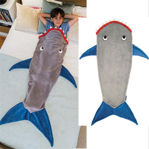 Shark Mermaid Tail Blanket Air Sofa Throw Rugs Soft Fleece Travel Sleeper Stroller Children Sleeping Bag Child Bed Blankets Mat
