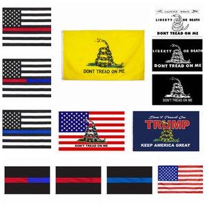 Dont DİŞ AÇMA ME bayrağı 90 * 150 CM Gadsden Bayrak mavi kırmızı çizgi Bayrak Sarı Yılan Banner koz ABD bayrakları ev dekorasyon cyf4469