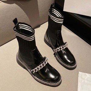 2021 Venda Bem Moda de Alta Qualidade Botas de Couro Ankle Boot Mulheres Boot Gear Plataforma Botas de Combate Plataforma Sapatos de Plataforma de Cupinha Motocicleta Botas 03