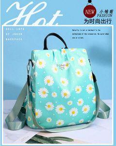 2020 Summer New Women Backpack Anti Theft Backpack Female Printing Daisy Casual Travel Bag Waterproof Oxford Flower Bag Boys Backpacks sN63#