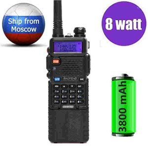 BaoFeng UV-5R 8Watts powerful 8w Walkie Talkie 3800mah battery 10KM long range vhf uhf Two way CB Portable radio uv5r hunting1