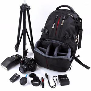 Sac à dos professionnel Paquet de photographie SLR Caméra Sac Ordinateur portable Sac imperméable à l'étanche Nylon étui avec couches détachables1