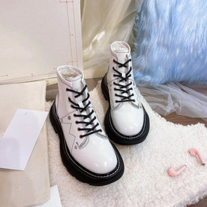 Leather Martin leather Wool boots Inner Coat Super Warm Soft Designer Boots shoe for woman motorcycle boot martin boot