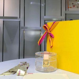 Kozmetik Çantası Çanta Purser Moda Metal Toka Yüksek Kaliteli Mektup Hasp Kadın Çantası PVC Şeffaf Temizle Malzeme Hızlı Kargo