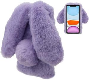 para Iphone 12 Lady Phone Case Inverno Quente orelha de coelho cabelo tampa do telefone para Iphone 6 7 8plus x Xr Xs Max 11 Pro Max 12 mini