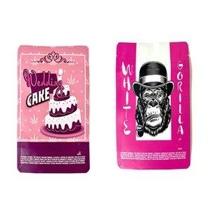 Blanco Gorila Pink Pastel de bodas Empaques vacías Resellable Embalaje Bolsas de almacenamiento 3.5gram Cookies SF 18th Sello Sello Zipper 3.5 Gram Jllxbp
