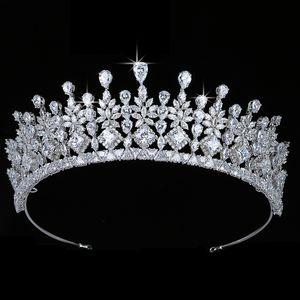 Crown HADIYANA Romance Elegant Women Wedding Bridal Hair Accessories Cubic Zirconia Luxury Jewelry BC5699 Couronne De Mariage C0929