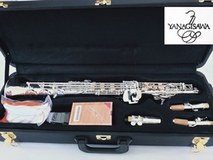 Silver Soprano Sax Japan Yanagisawa S901 B(B) Brass Soprano Saxophone perform musical instruments with Case