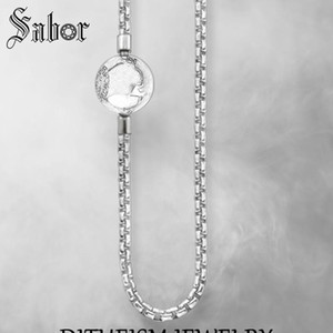 Link Chain Necklace Karma Chains, 2020 New Fashion silver color Jewelry European Gift For Men Women Boy Girls