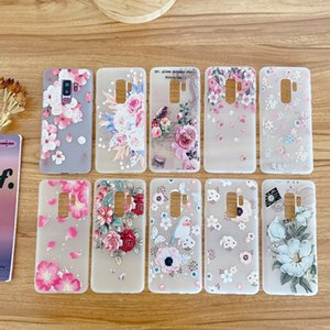 Matte Flower Soft TPU Case For Huawei P40 PRO P20 LITE P30 Nova 7I 7 SE 6 Honor 30S V30 30 20 20I Frosted protective Phone Cover Back Luxury