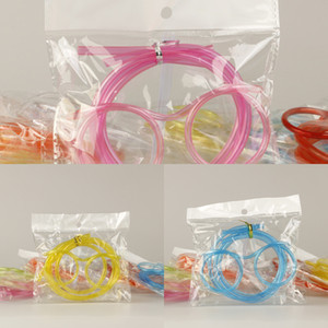 10Pcs Set Funny Drinking Straws Unique Flexible Drinking Tube Kids Party Accessories Colorful Plastic Soft Glasses Straw