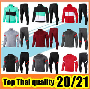 20 21 Veste de survêtement de football Liverpool Hommes training suit 2020 2021 survêtement de football liverpool soccer tracksuit jacket survetement de foot Polo football shirt