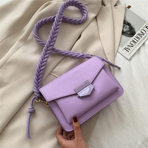 Fashion Knitting Strap Shoulder for Women 2020 Luxury Handbags Designer Small Crossbody Bags Lady Travel Messenger Bag Q1104