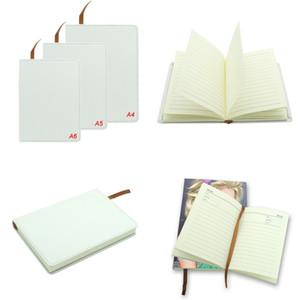 Multi tamaño Cuaderno Sublimación en blanco Consumible con núcleo Cinta de doble cara Cuadernos Imprimibles Escribir Blocsepads Regalo de fiesta 27JY3 N2