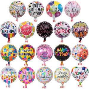 18inch Happy Birthday Balloon Aluminium Foil Balloons Helium Balloon Mylar Balls For kKd Party Decoration Toys Globos NWA51
