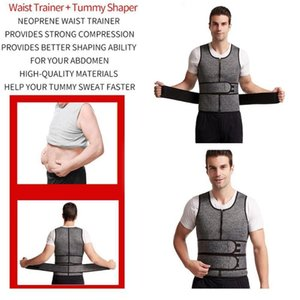 Men's Double Waist Belt Vest Shapewear Reinforced Sweat Tunic Sports Corset Belt Abdomen Waist Rubber E6O9
