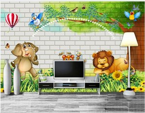 Custom photo wallpapers 3d wall mural wallpaper Cartoon forest animal background wall beautiful children room background wall papers decor