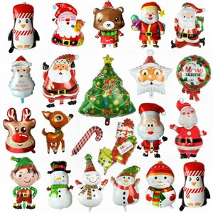 1pc Merry Christmas Foil Balloon Cute Santa Claus Snowman Balloon for Christmas Party Kids Favor Air Balls Decoration Supplies 8
