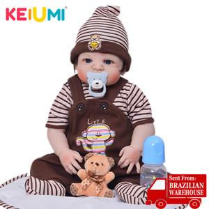 KEIUMI 23 İnç Sevimli Reborn boneca Boy El Yapımı Silikon Reborn Baby Doll Tüm Vücut Vinil Bebekler Oyuncak İçin Çocuk Doğum Günü Hediyeleri 1011