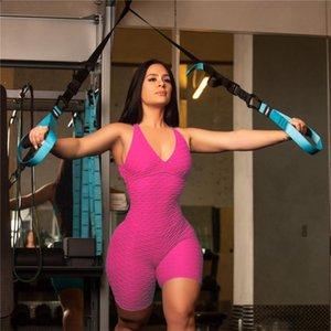 Kadınlar Kolsuz Bodysuit Tulum Şort tulum Tek Parça Pantolon Seksi Backless tulumları Spor Salonu Yoga Spor Moda Giyim F92804