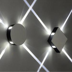 L Toptan sade, modern, yaratıcı otel projesi KTV kare yuvarlak LED alüminyum duvar lambası kapalı aydınlatma efekti lamba