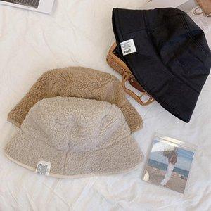 Swak Unisex 양면 가역 양동이 모자 여성 겨울 따뜻한 양고기 파나마 Chapeau Bob Hat Fisherman Femme Cap1
