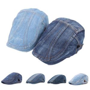 Helisopus New Autumn Jeans Beret Hat for Men Women Casual Unisex Denim Beret Cap Fashion Headwear Flat Sun Cap Gorras