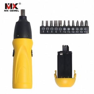 Cacciavite elettrico 6V Battery Operated cordless cacciavite Trapano Electric Tool Set + 11pcs Bits accessori lfj1 #